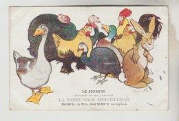 """CPA PUBLICITE SOUVENIR DU CONCOURS """"LE JOURNAL"""" - La Bassa Cour Merveilleuse - Werbepostkarten"""