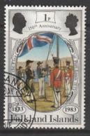 Falkland Islands 1983 The 150th Anniversary Of British Administration 1p Multicoloured SW 378 O Used - Falkland Islands