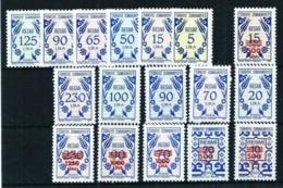 Turquía Servicio-165/75-182/7 Nuevo Cat.63,50€ - 1921-... Republic