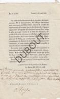 Olloy-sur-Viroin/Viroinval Lettre Impimé Du Gouverneur De La Province De Namur Baron De Stassart 1833 (R465) - Vecchi
