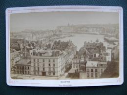 Photo DIEPPE Vue Générale Vers 1880 Seine Maritime - Lieux