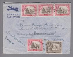 Asien Aden 1950-10-23 Flugpostbrief Nach Bassersdorf Umgeleitet N. Davos-Platz Sanat.National - Aden (1854-1963)