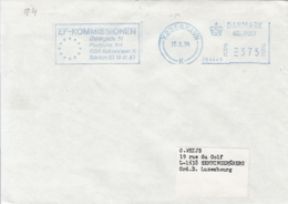83441- AMOUNT 375, COPENHAGEN, EUROPEAN COMMISSION, MACHINE STAMPS ON COVER, 1994, DENMARK - Danimarca