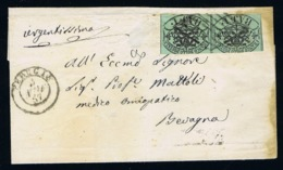 Italy Papel States: 1857 Sa 2 Pair - Kerkelijke Staten