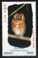 Laos 1999 Chouette Glaucidium Brodiei Oiseau Nuit / Owl  Bird  900 Kip MNH Neuf - Laos