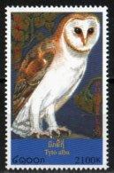 Laos 1999 Chouette Tyto Alba Oiseau Nuit / Owl  Bird    2100 Kip MNH Neuf - Laos
