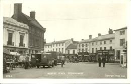 Regno Unito, United Kingdom, Suffolk, Stowmarket, Market Place, Provincial Bank LTD And PickupTrucks - England