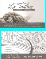 Carte De Visite - La Touline - Crêperie - Glacier  - Saint-Malo (22) - [restaurant} - Visitekaartjes
