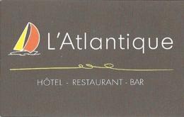 Carte De Visite - L'Atlantique - Hôtel - Restaurant - Bar - La Tranche-sur-Mer (85) - Visitekaartjes