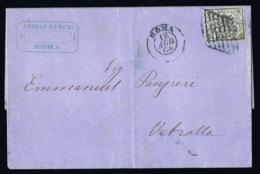Italy Papel States: Complete Letter 1864 Sa 3  Roma  -> Vetralla - Kerkelijke Staten