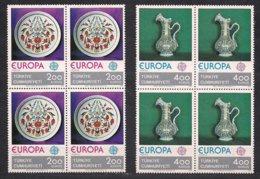 Turkije Turkei Turquie  Cept 1976 Yvertn°  2155-2156 *** MNH 4 Séries Cote 32 € Europa - Europa-CEPT