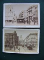 Lot 2 Photos BRUXELLES Brussels Rue De La Régence Et Boulevard Anspach 1886 - Lieux