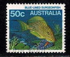 Australie  1984 Blue-lines Sergeonfish 50 C. (o) Used - 1980-89 Elizabeth II