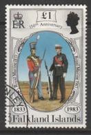 Falkland Islands 1983 The 150th Anniversary Of British Administration £1 Multicoloured SW 387 O Used - Falkland Islands