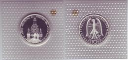 """Silbermünze 10 DM 1995 Frauenkirche Dresden """"J"""" Polierte Platte (17) - Munten"""
