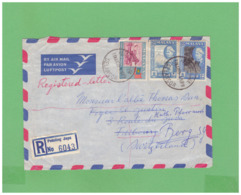 MALAYA SELANGOR PETALING JAYA 1959 REGISTERED AIR MAIL COVERT WITH 3 DIV. STAMPS TO SWISS - Selangor