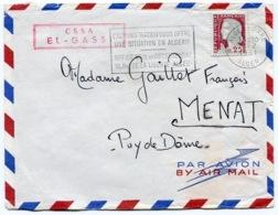 RC 14493 ALGERIE 1961 LETTRE OBL. FLAMME L'ADMINISTRATION VOUS OFFRE UNE SITUATION EN ALGERIE + GRIFFE CSSA EL-GASSI - Algeria (1924-1962)