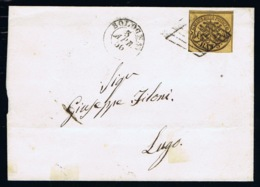 Italy Papel States: Complete Letter 1866 Sa 4  Bologna -> Lugo - Kerkelijke Staten