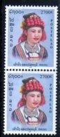 Laos 2000 Costumes Région Hmong / Ethnology / Ethnologie    2700 Kip MNH Paire N° 1378 - Laos
