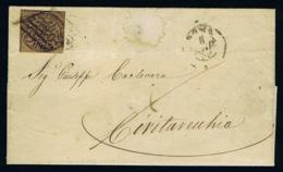 Italy Papel States: Cover 1852 Sa 4 A Roma - Kerkelijke Staten