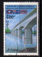 Laos 1994 Pont De L'amitié Franco Thailande / Thailand / Bridge    500 Kip Used Oblitéré N° 1124 - Laos