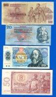 Tchécoslovaquie  8  Billets - Czechoslovakia