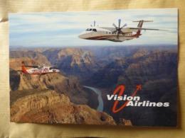 VISION AIRLINES   DORNIER 228 / 328    AIRLINE ISSUE / CARTE COMPAGNIE - 1946-....: Era Moderna