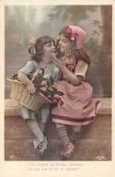 Lot De 2 Cartes CPA : Petite Fille Et Garçon Avec Pommes Et Cerises - Adam Et Eve - Gourmandise - Ritratti