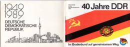 """(Kart-ZD) DDR Sammelheft Für Die DSF-Sondermarkenserie 1989 """"40 Jahre DDR Im Bruderbund Auf..."""" Kompl. Mit 21 Marken - [6] Repubblica Democratica"""