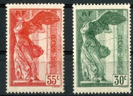 """N° 354 + 355. 55ct Rouge Et 30ct Vert """"Musées Nationaux"""". Voir Description - Francia"""