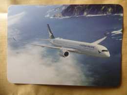 CATHAY PACIFIC   AIRBUS A 350   AIRLINE ISSUE / CARTE COMPAGNIE - 1946-....: Era Moderna