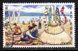 Laos 2001 Sand Stupa Fete Luang Prabang / Ethnology / Ethnologie / Boudhisme  1000 Kip Used Oblitéré N° 1419C - Laos