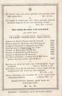 Z.E.H. Petrus-Josephus MATTHYS  (Zoerle-Parwys 1790 - Meysse 1860) - Décès