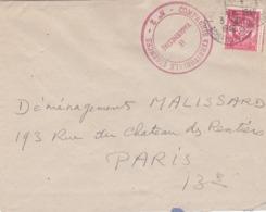 Cachet Rouge Compagnie Territoriale Essences No 2 Sur Lettre De 1948 - Cachets Militaires A Partir De 1900 (hors Guerres)