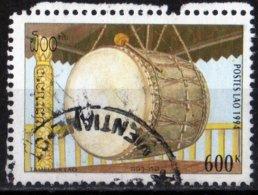 Laos 1994 Tambour Lao Instrument Musique / Ethnologie / Ethnology / Music Instrument  600 Kip Used Oblitéré N° 1153 - Laos