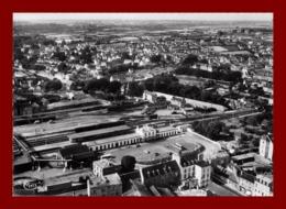 Morlaix * La Gare Au Fond Coat Serho * Vue Aérienne    ( Scan Recto Et Verso ) - Morlaix