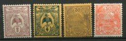 15529 NOUVELLE CALEDONIE N°89/90, 96, 119 **/*  1905-22  B/TB - Unused Stamps