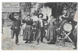 CPA..   MAURIAC..LA BOURREE D'AUVERGNE...1906..ANIMATION.... TBE SCAN - Mauriac