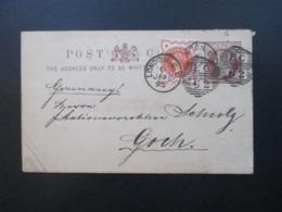 GB 1895 Ganzsache Mit Zusatzfrankatur Nr. 86 Stempel London E.C. Nach Goch Gesendet! Brasch & Rothenstein London - Briefe U. Dokumente