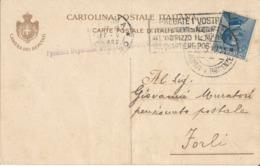 ROMA-FORLI 17-5-1922 CARTOLINA POSTALE MICHETTI CENT. 25 - Marcofilía