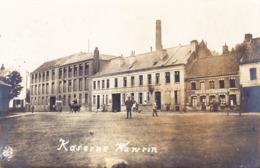 1917 Fotokarte Kaserne Wavrin Mit Restaurant La Clef D'or Nach Bingen Gelaufen - Autres Communes
