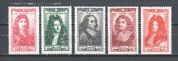 France 1944 Mi 624-626 + 628-629 MNH - Neufs