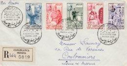 Enveloppe Cachet Premier Jour - 3 Novembre 1956 - Timbres Lutte Contre L'analphabétisme - Morocco (1956-...)