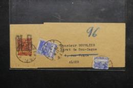 ALGÉRIE - Entier Postal ( Bande Journal ) Surchargé + Compléments De Alger Pour Alger En 1943 - L 46457 - Briefe U. Dokumente