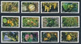 France - Flore Et Fruits Du Monde YT A686-A697 Obl. Ondulations - Adhésifs (autocollants)