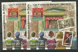 Blocs Marigny 2018 PARIS  Théatre De Guignol - Sheetlets
