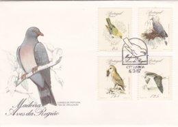 Portugal -fdc -Madeira  Aves Da Região - FDC