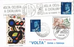 34594. Tarjeta BARCELONA Y SAN CARLOS RAPITA (Tarragona) 1980. 60 Volta Ciclista Catalunya - 1931-Hoy: 2ª República - ... Juan Carlos I