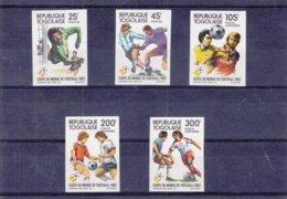 Togo - Yvert 1074 / 5 + PA 473 / 75 ** - NON Dentelé - Championnat Du Monde 1982 - Valeur 50 Euros - World Cup