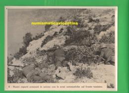 Tunisia Front Mitragliatori Mitraglie Mitraglieri Fucilieri Italiani Foto Anni '40 - Guerre, Militaire